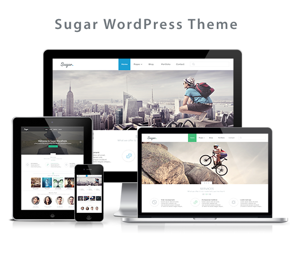 Sugar - Business Responsive WordPress Theme - 1