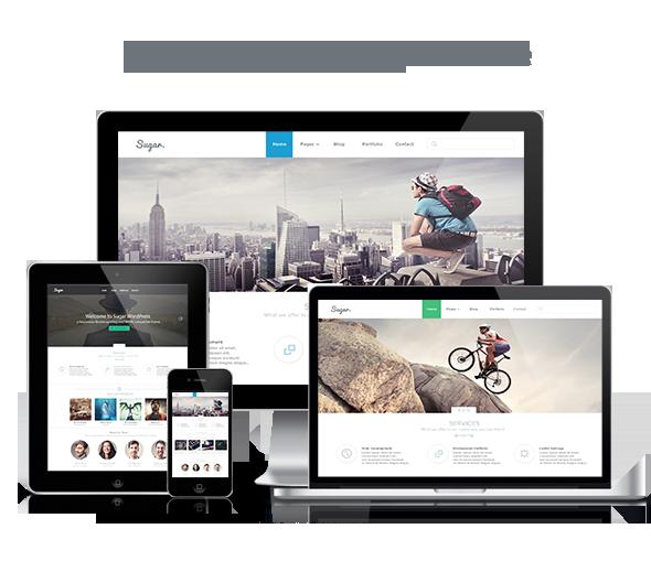 WordPress theme Sugar - Business Responsive WordPress Theme (Business)
