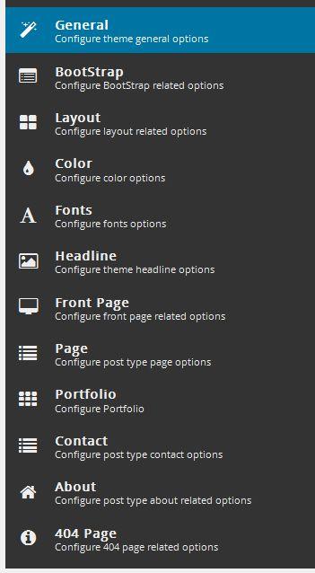 menu panel